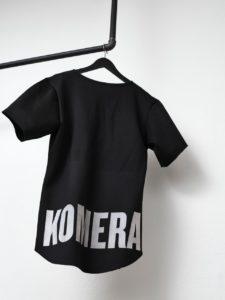 komera neza black t-shirt with white logo print