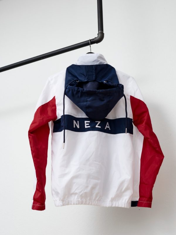 KOMERA NEZA jackets with front pucket and embroidered logo