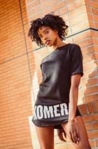 womens exclusive t-shirt with white komera neza print logo