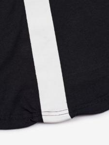 black t-shirt with white komerafit print logo