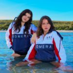 womens komeraneza jackets with front pucket and embroidered logo