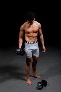 mens white sports tights with komera neza logo print