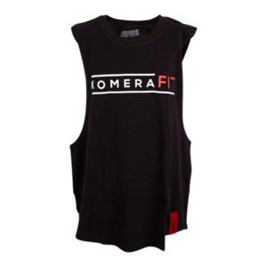 KOMERA NEZA black gym tanktop with komerafit print logo